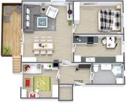 One Bedroom Apartment Floor Plans by 50 Two