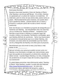 editable flat stanley letter to parents spanish tpt