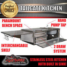 Stainless Steel Bench With Sink At Flatpack Stainless In Nsw Penrith Camper Trailer Kitchen Parts Ebay