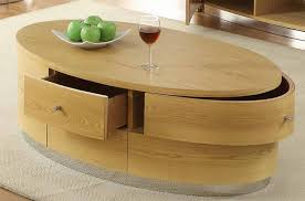 Oval Wood Coffee Tables Oval Coffee Table Wood The Types Of Materials To Find The Best