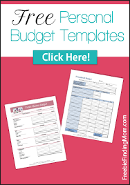 free personal budget templates get your finances on track