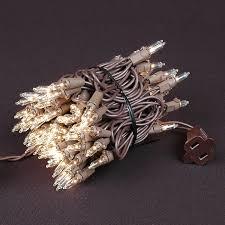 brown cord mini lights christmas mini lights sets 100 light brown wire 2 5 spacing