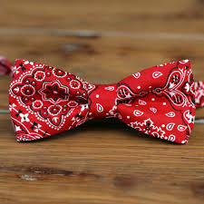 bandana bow boys bandana bow tie bandanna print cotton bowtie