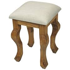 Pine Vanity Table Rustic Mexican Pine Vanity Stool With Padded Seat