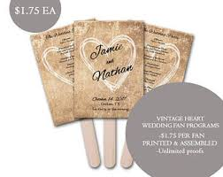 Personalized Wedding Programs Personalized Wedding Fans Assembled Wedding Fan Wedding
