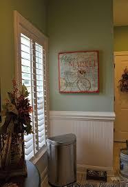 half bath makeover using beadboard wallpaper and behr paint hometalk