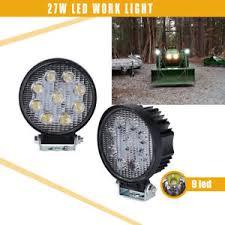 led tractor light bar 4 inch 27w round led work light bar spot john deere 320 40 420 430