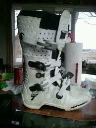 alpine motocross boots sold alpinestars tech 7 size 9 white only 3 rides on them for