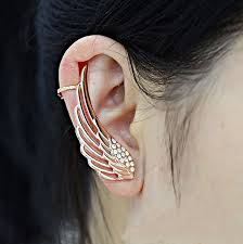 earrings on top of ear new fashion rock earrings top grade angel wings