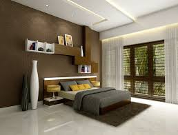 elegant cool room decorating ideas with brown wooden shelves