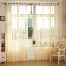 Curtains In Sunroom Hookless Lace Curtains Installed In The Window With Pole And