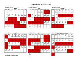 boston red sox 2016 schedule home opener vs orioles rockies