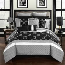 chic home 16 piece casper bed in a bag comforter set grey fdh