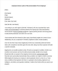 letters of recommendation free sample character letter of