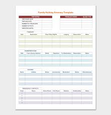 vacation itinerary template 5 planners for word doc u0026 pdf format