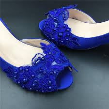 wedding shoes size 9 sizes royalblue peep toe wedding shoes cobalt lace
