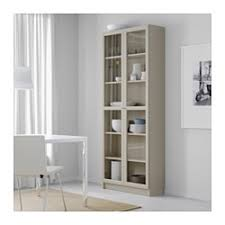 Glass Bookcases With Doors Billy Bookcase With Glass Doors Beige Ikea