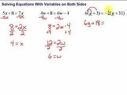 Multi Equations With Variables On Both Sides Worksheet Lesson 7 5 Solving Equations With Variables On Both Sides