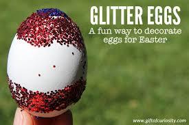 glitter easter eggs glitter eggs for easter gift of curiosity