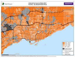 Map Toronto Canada by A Perspective On Household Debt In Canada