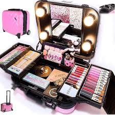 Makeup Kit pro travel makeup kit with wheels 祓 handle nib nwt professional