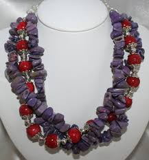 chunky bead necklace images Chunky red sponge coral statement necklace by 123gemstones on zibbet jpg