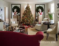 Traditional Home Living Room Decorating Ideas by A Designer U0027s Festive Country House Traditional Home