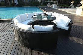 Rattan Garden Furniture Sofa Sets Yakoe 50142 Monaco 10 Seater Round Rattan Outdoor Patio Garden