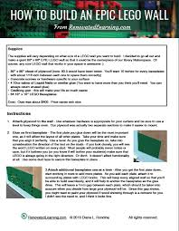 Instructions On How To Make A Toy Box by How To Build An Epic Lego Wall Renovated Learning