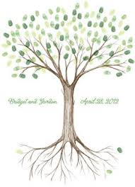 fingerprint tree guestbook canvas great for wedding baby