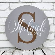 family wood personalized family last name established sign skolnick