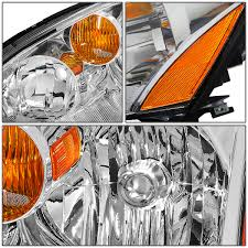 nissan altima yellow engine light 04 nissan altima crystal headlight chrome housing amber reflector