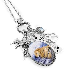 pet memorial necklace handmade pet and dog memorial necklace in stainless steel for loss