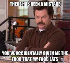 Salad Meme - pin by katie albert on laughable pinterest ron swanson meals