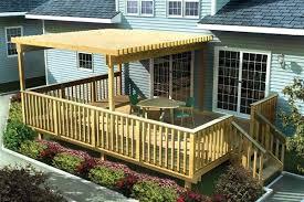 Backyard Deck Ideas Large Easy Raised Deck Ideas Patio Design Ideas 716