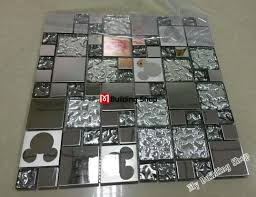 pic stainless steel tiles for kitchen backsplash silver metal