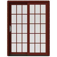 60 Inch Sliding Patio Door Jeld Wen 60 In X 80 In W 2500 Contemporary Clad Wood Left