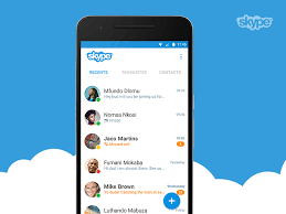 contacts android app skype android app concept app and mobile ui