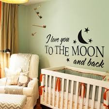 Baby Nursery Wall Decals by Aliexpress Com Buy I Love You To The Moon And Back Romantic Love