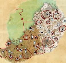 map quests map of quest givers elder scrolls