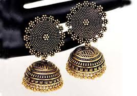 kerala style jhumka earrings oxidised jhumka style earring kerala news kerala