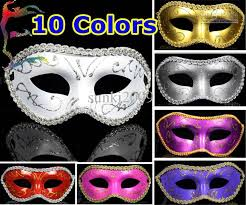 masquerade masks in bulk half gold powder flower around party masks painting