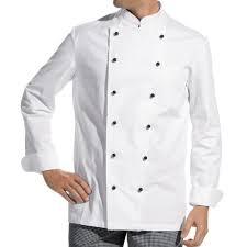 blouse de cuisine veste de cuisine manches longues 100 coton boutons boule