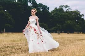 floral wedding dresses the prettiest floral wedding dress inspiration you ll
