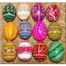 painted wooden easter eggs wooden pysanky
