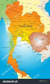 Map Of Thailand Vector Color Map Thailand Stock Vector 222520195 Shutterstock