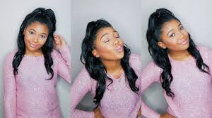 half up half down hairstyle w clip ins short relaxed hair