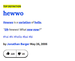 Definition Of Meme Urban Dictionary - urban dictionary hewwo know your meme