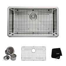 Kraus  Inch Undermount Single Bowl  Gauge Stainless Steel - Home depot kitchen sink