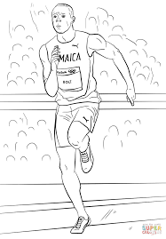 usain bolt coloring page free printable coloring pages